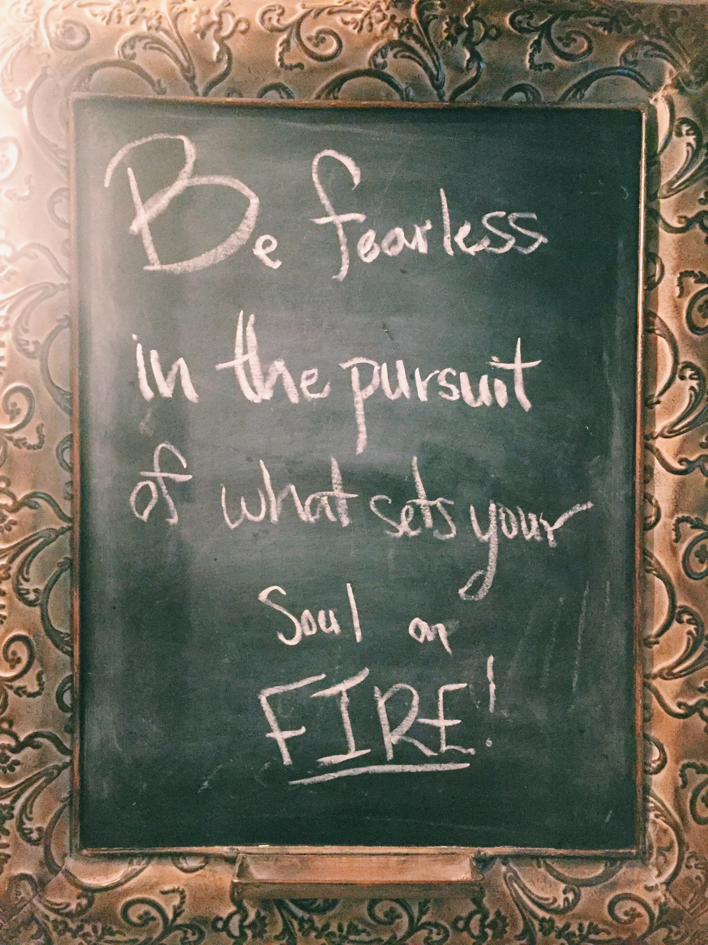 Chalkboard found by Maris Young of Young Honest Mother